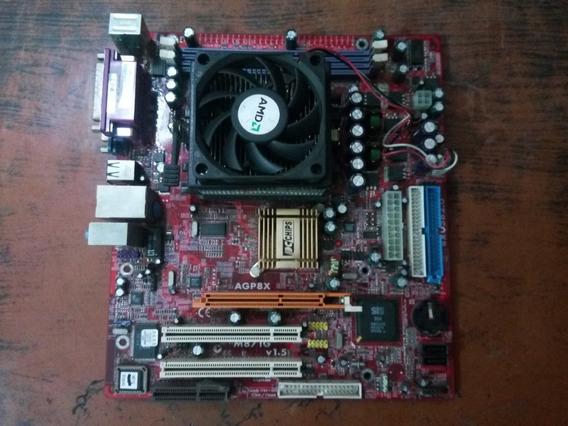 Placa Mãe Pcchips M871g + Sempron 3000 + Cooler