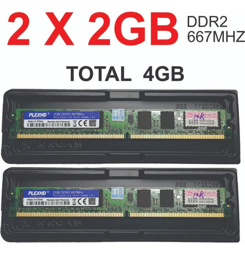 Imagem 1 de 1 de 2 X Memoria  Ddr2 800 Pc2-6400  Usada Testada