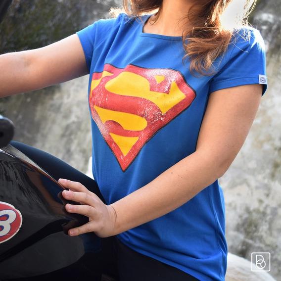 Remera Superman Kal-el Logo Mujer Dc Comics