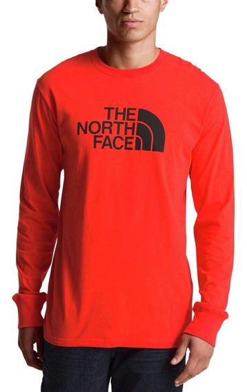 The North Face Half Dome Camiseta M Manga Larga Roja Hombre