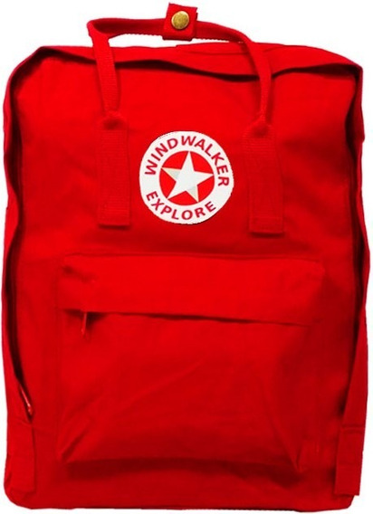 Mochila Windwalker Casual Red. Tipo Kanken