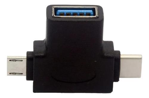 Adaptador Usb 3.0 Hembra A Micro Tipo C Netmak Nm-tc3