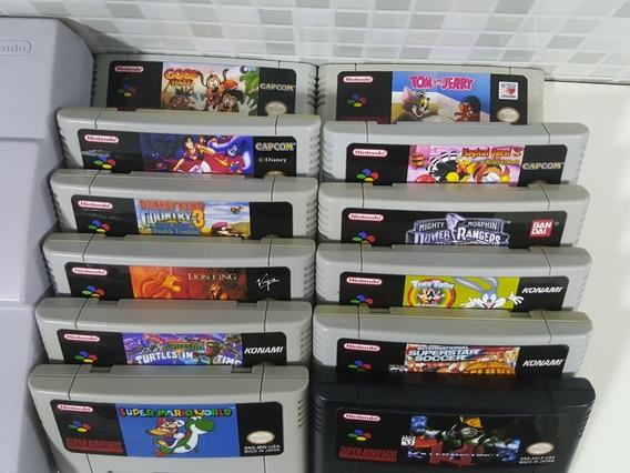 6 Jogos De Super Nintendo A Sua Escolha + Frete Grátis!