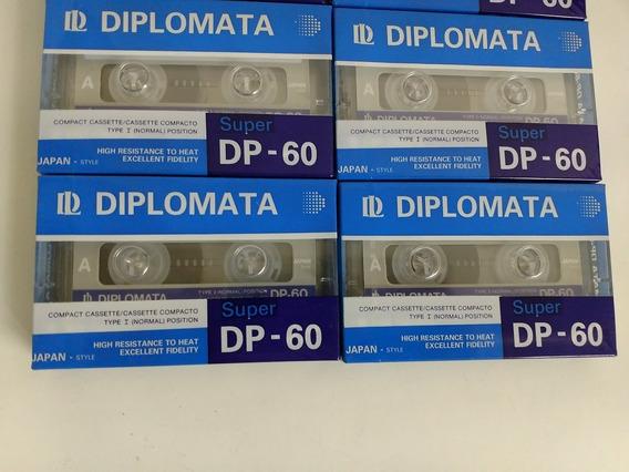 Fita K-7 Audio Cassete Diplomata Super Dp 60 Lacrada 3 Unid