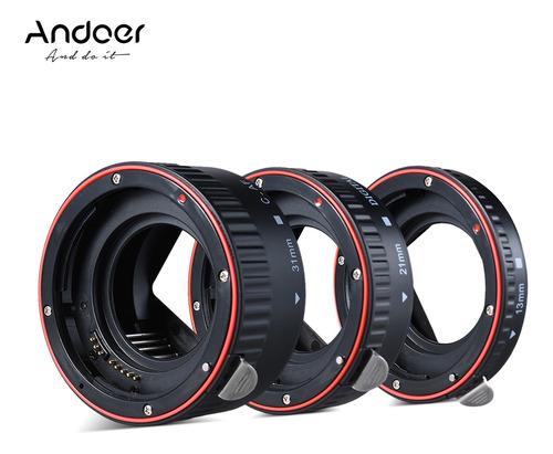 Imagem 1 de 9 de Andoer Macro Extensão Tubo Conjunto 3 Peças 13mm 21mm 31mm