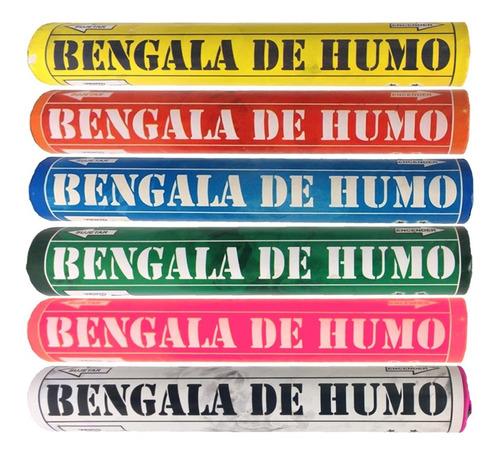 Imagen 1 de 5 de Bengalas Humo X1un -apto Renar- Pirotecnia La Golosineria