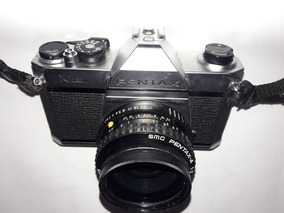 2 Cameras Pentax K1000 + Lente 80/200 Mm + 1 Flash