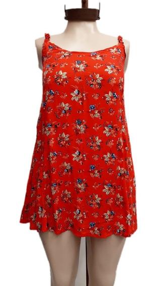 Vestidos Mujer Cortos Fibrana Talles S Al 4xl Estampados