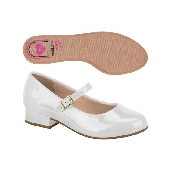 Sapato Molekinha 04/2019 2528101 Branco/verniz