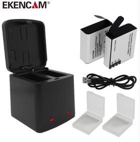 Case Duplo Carregamento + 2 Baterias 1380 Para Action Câmera
