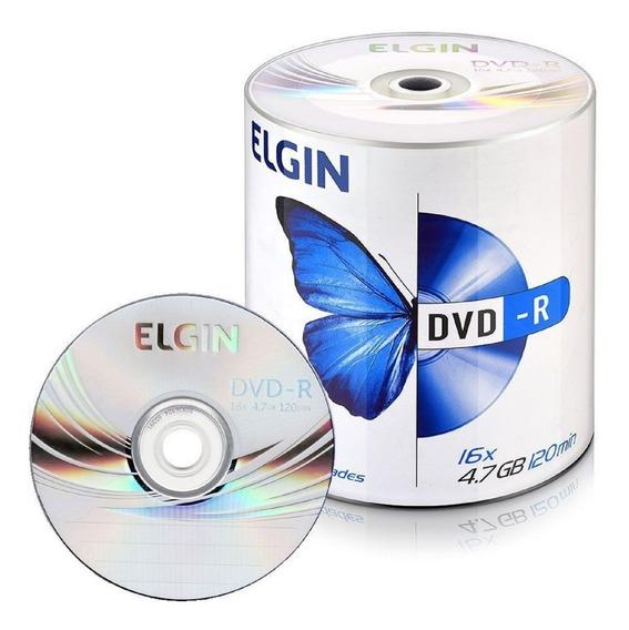 600 Dvd-r Elgin 4.7 Gb 16x Logo 4.7gb (nao Grava Jogos)