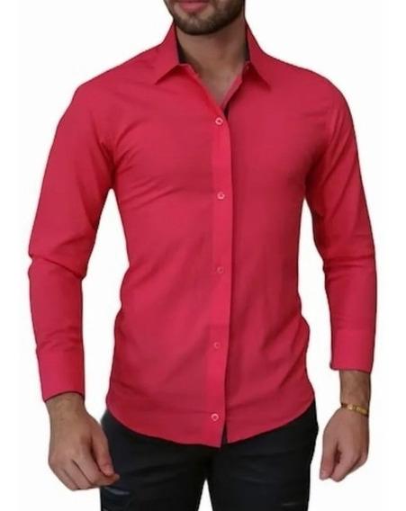 Kit-10 Camisa Social Masculina-slim Fit -atacado- P Ao Gg