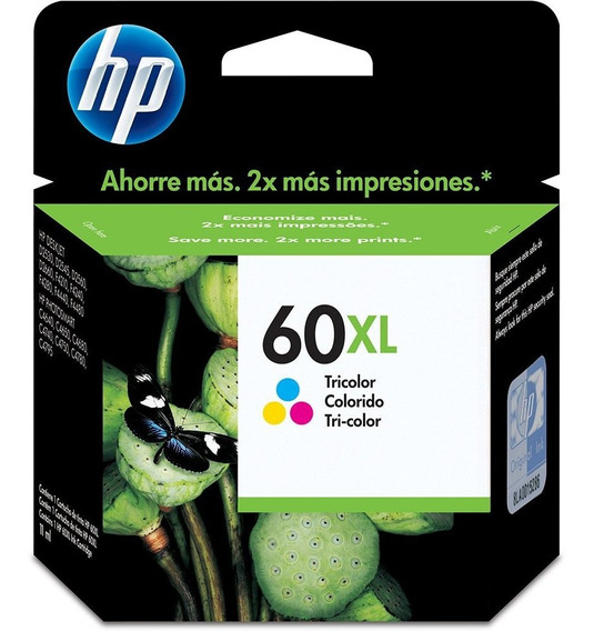 Cartucho Hp 60 Xl Color 11ml - Cc644wb