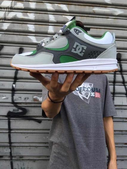 Tênis Dc Kalis Lite Grey/wht/green Original