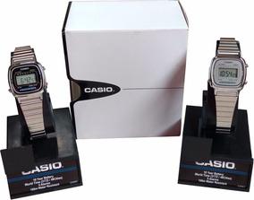 Relogio Casio La670 Mini Prata Feminino Caixa Original