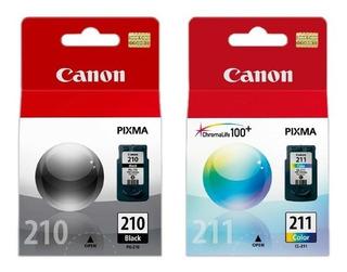 Pack Cartuchos Canon Pg 210 Y Cl 211 Originales