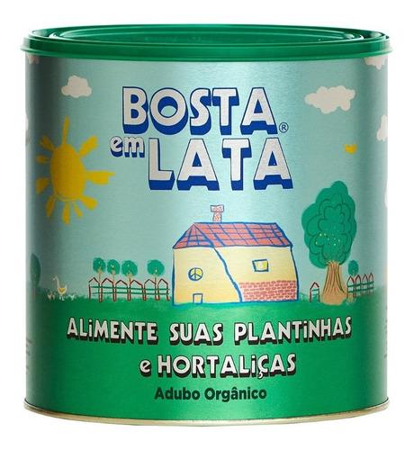 Imagem 1 de 1 de Fertilizante Orgânico Bosta Em Lata Plantas E Horta - 2,3kg