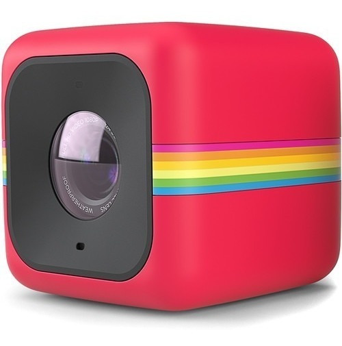 Câmera Polaroid Cube Full Hd Vermelha | Temos Loja