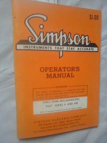 Manual Simpson  Eletric 260 Series 6 E 6m