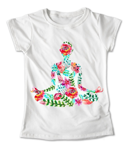 Blusa Yoga Namaste Playera Pilates Gym Flores Colores #245