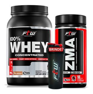 Whey Concentrado Chocolate + Zma Testosterona Ftw