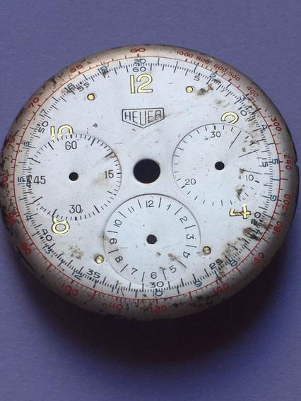 Heuer Mostrador De Relogio Cronometro.antigo.