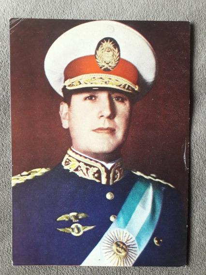 Antigua Tarjeta Del General Perón