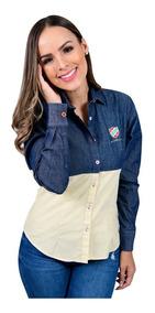 Camisa Porto Blanco Blusa Dama Azul Y Pastel Casual D-382
