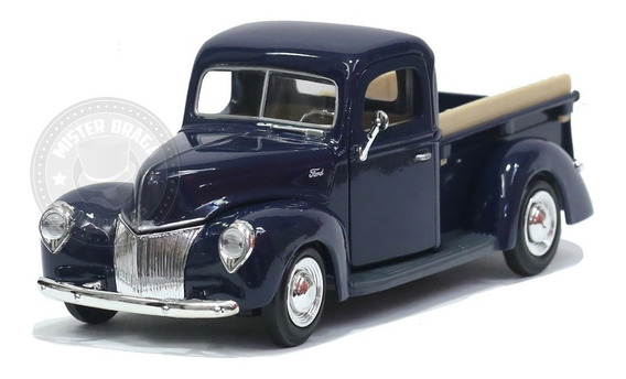 Miniatura Pickup Ford 1940 Azul Motormax 1/24