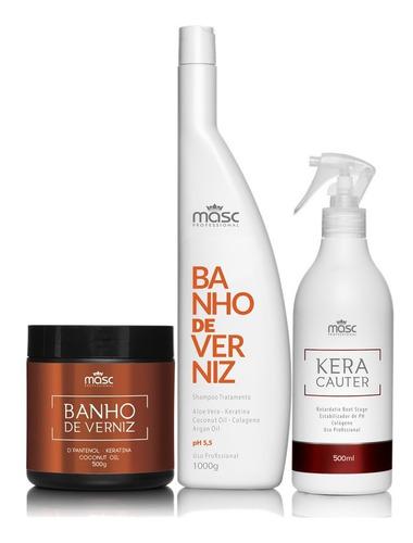Imagem 1 de 9 de Kit Hidratação Shampoo Máscara + Queratina Líquida + Brinde