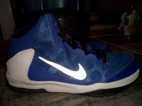 Tenis De Basquetbol Nike Hyperdunk Azul Con Blanco #4.5