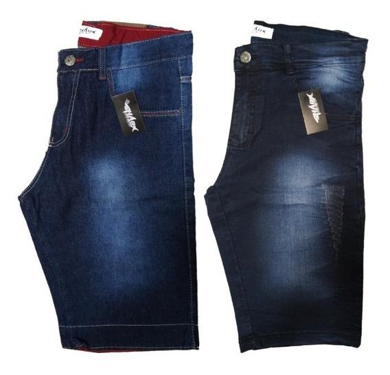 Kit 3 Bermudas Jeans Masculina 12x Sem Juros C/ Frete Grátis