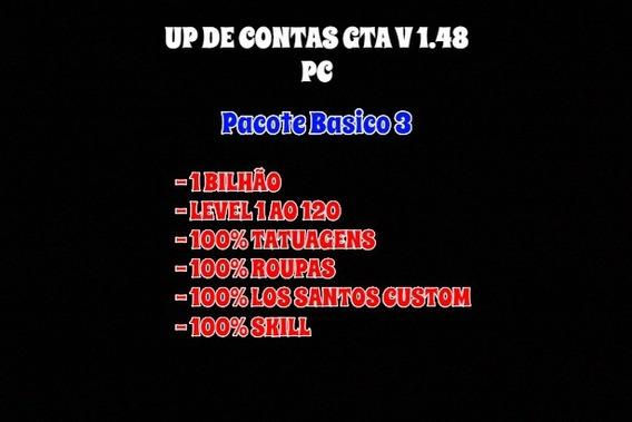 Up De Contas Gta V 1.48 Pc *pacote Básico 3*
