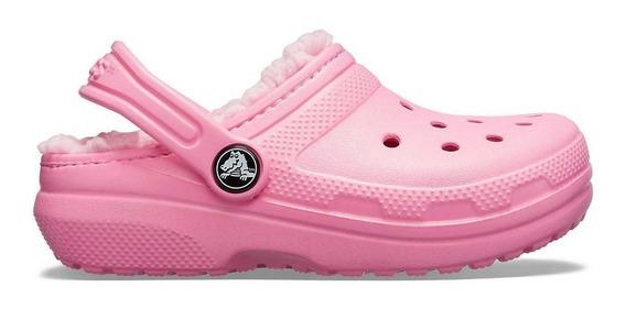 Crocs Originales Niños Corderito Classic Lined Pink