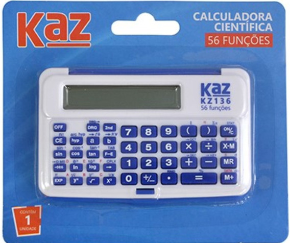 Calculadora Cientifica 10 Digitos 56 Funçoes Kz136