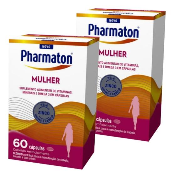 Kit C/2 Pharmaton Mulher 60 Cápsulas