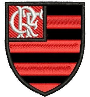 Patch Bordado Time Futebol Flamengo Escudo 8cm.