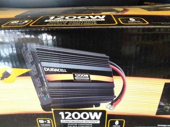 Duracell Inversor De Corriente 1200w Automotriz Panel Solar