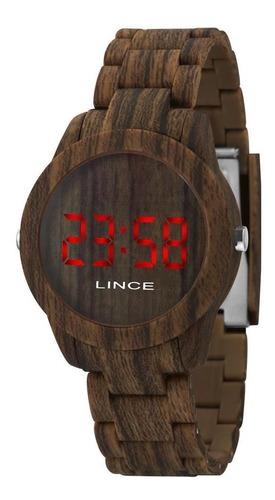 Relógio Lince Mdp4615p Vxnx Led Digital Estilo Amadeirado