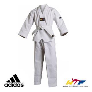 Dobok Taekwondo adidas Adistart Gola Branca + Faixa Branca