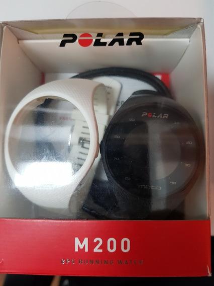 Relogio Polar M200. Frequencia Cardiaca No Pulso E Gps. Pulseira Adicional Branca. Caixa Original E Manuais.