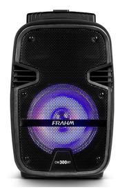 Caixa Ativa Amplificada Frahm Cm 300 10 300w Bateria Usb Bt