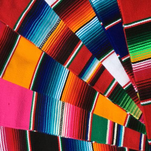 Manta Mexicana Caminho De Mesa Sarape