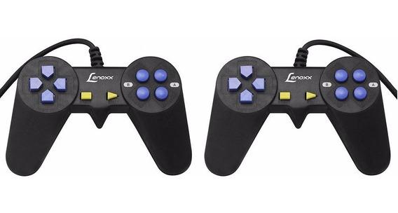 Par Controle Joystick Game Lenoxx Dk417 Dk418 + Cd 600 Jogos