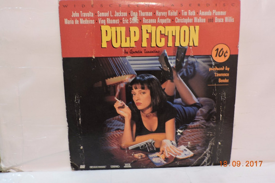 Laser Disc Pulp Fiction By Quentin Tarantino Duplo
