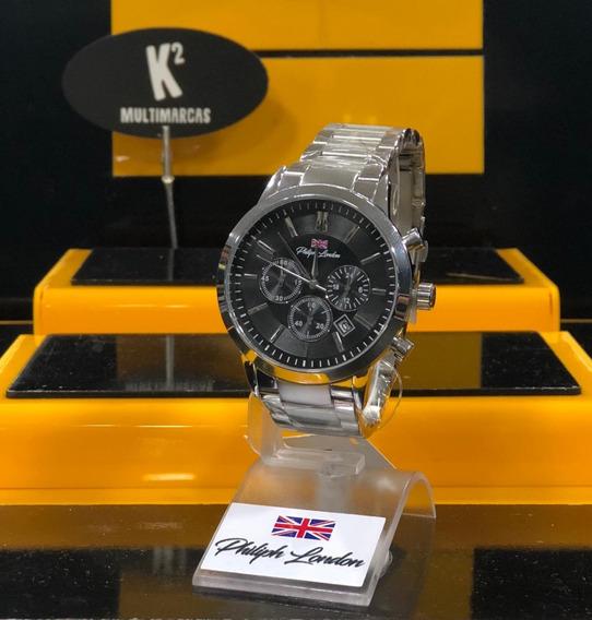 Relógio Analógico Philiph London Pl80045623m- 100% Original