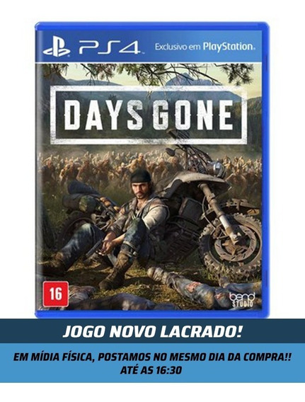Jogo Days Gone- Days Gone Ps4 - Novo Lacrado