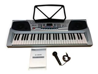 Teclado Organo Piano Musica Musical Seklou Microfono Atril