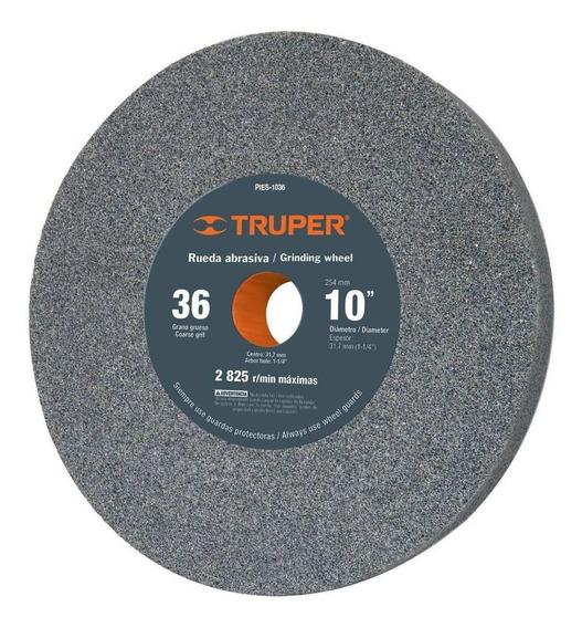 Piedra De Esmeril Oxido De Aluminio 10 Grano 36 Truper 12401