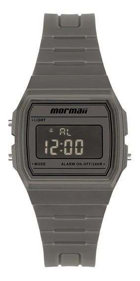 Relógio Masculino Digital Quadrado Cinza Mormaii Original+nf
